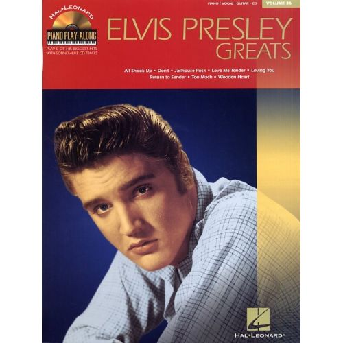 HAL LEONARD ELVIS PRESLEY GREATS - 36-PIANO PLAY-ALONG BOOK WITH CD - PVG