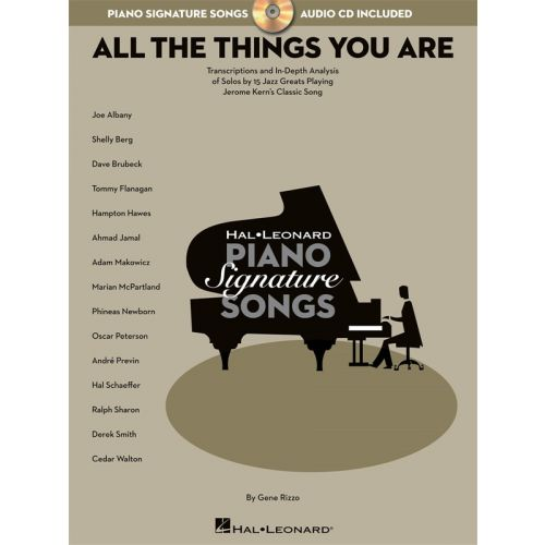 HAL LEONARD SIGNATURE SONG SERIES JEROME KERN ALL THE THINGS YOU ARE + CD - PIANO SOLO
