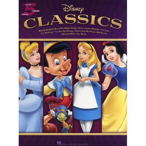 HAL LEONARD DISNEY CLASSICS FIVE FINGER PIANO SONGBOOK - PIANO SOLO