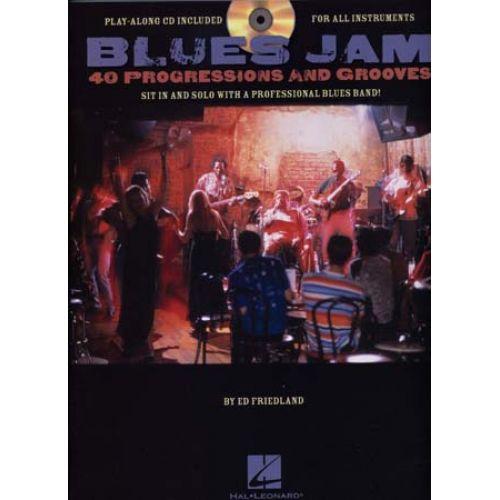 HAL LEONARD BLUES JAM 40 PROGRESSIONS & GROOVES + CD