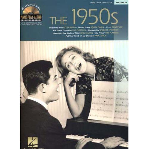 HAL LEONARD PIANO PLAY ALONG VOL.56 - THE 1950'S + CD