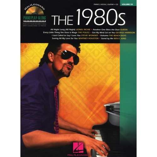 HAL LEONARD PIANO PLAY ALONG VOLUME 59 THE 1980S + CD - PVG