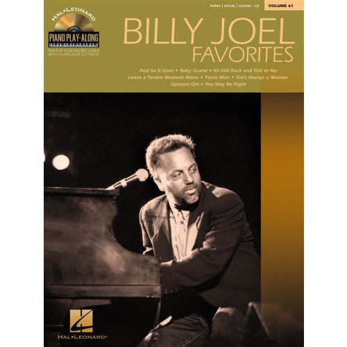 HAL LEONARD PIANO PLAY ALONG VOLUME 61 - BILLY JOEL FAVORITES + CD - PVG