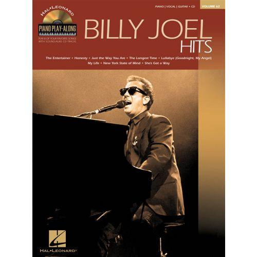 HAL LEONARD PIANO PLAY ALONG VOLUME 62 - BILLY JOEL HITS + CD - PVG