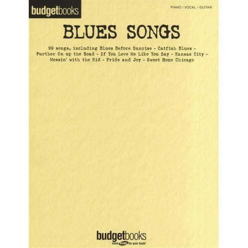 HAL LEONARD BUDGET BOOKS BLUES SONGS - PVG