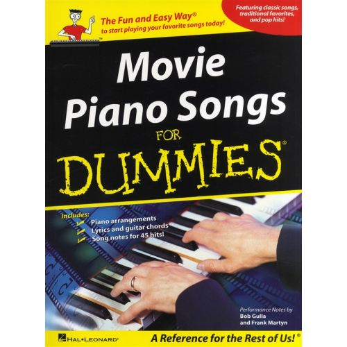 HAL LEONARD MOVIE PIANO SONGS FOR DUMMIES - PVG