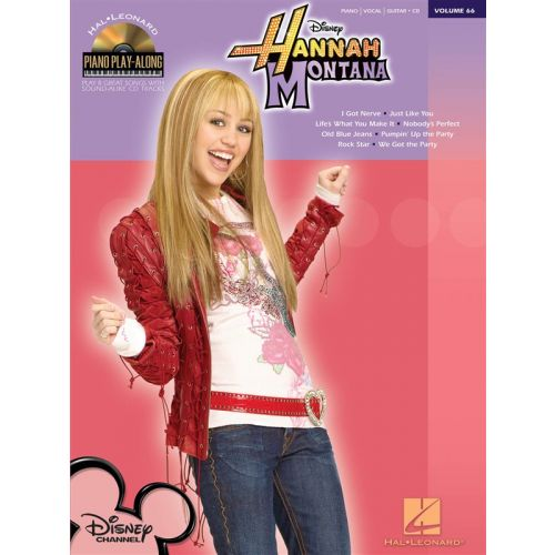 HAL LEONARD PIANO PLAY-ALONG VOLUME 66 HANNAH MONTANA CD - PVG