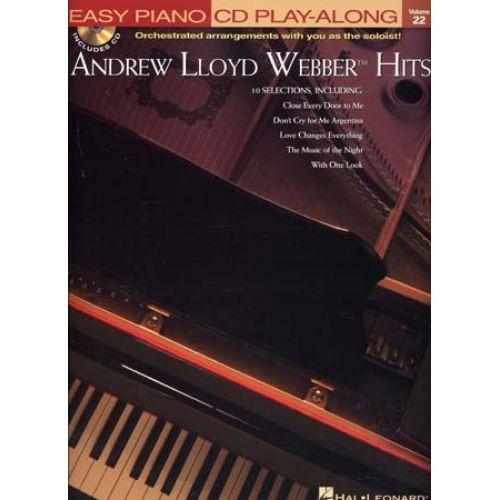 HAL LEONARD EASY PIANO CD PLAY ALONG VOL.22 ANDREW LLOYD WEBBER HITS + CD