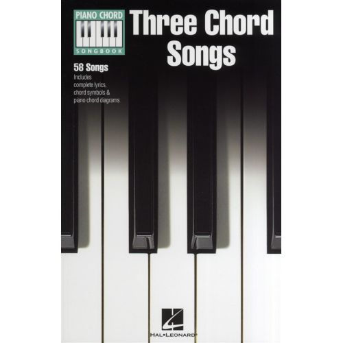 HAL LEONARD PIANO CHORD SONGBOOK THREE CHORD SONGS LC - PIANO SOLO