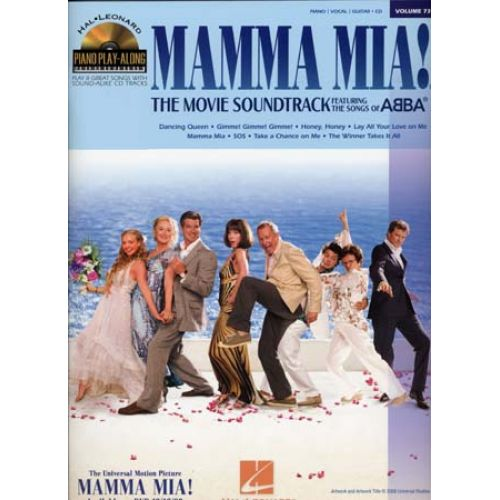 HAL LEONARD PIANO PLAY ALONG VOL.73 MAMMA MIA + CD
