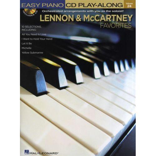 HAL LEONARD LENNON AND MCCARTNEY FAVORITES+ CD - PIANO SOLO