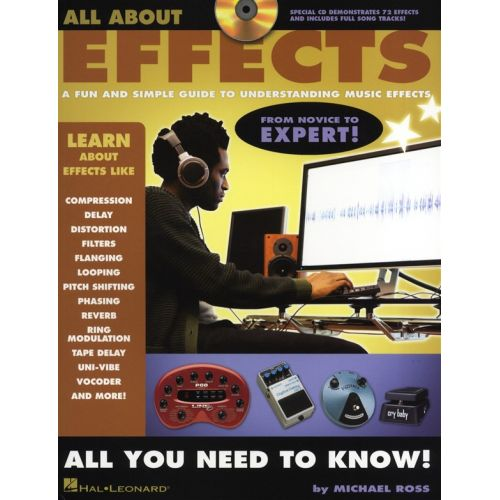 HAL LEONARD MICHAEL ROSS ALL ABOUT EFFECTS GUIDE TO UNDERSTANDING + CD -