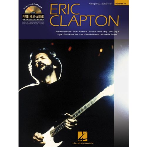 HAL LEONARD PIANO PLAY ALONG VOLUME 78 - CLAPTON ERIC + CD - PVG