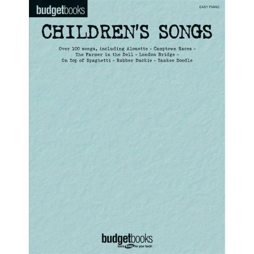 HAL LEONARD BUDGET BOOKS CHILDREN'S SONGS - PIANO SOLO