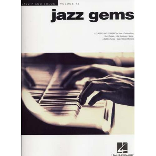 HAL LEONARD JAZZ PIANO SOLOS VOL.13 - JAZZ GEMS - PIANO