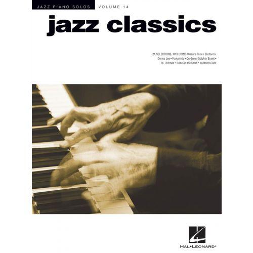 HAL LEONARD JAZZ PIANO SOLOS VOLUME 14 JAZZ CLASSICS SONGBOOK - PIANO SOLO