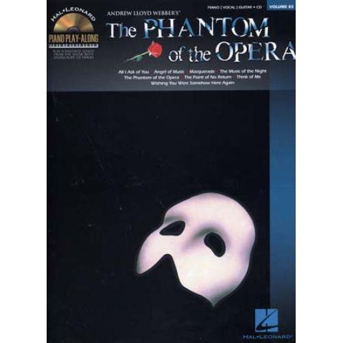 HAL LEONARD PIANO PLAY ALONG VOL.83 PHANTOM OF THE OPERA + CD