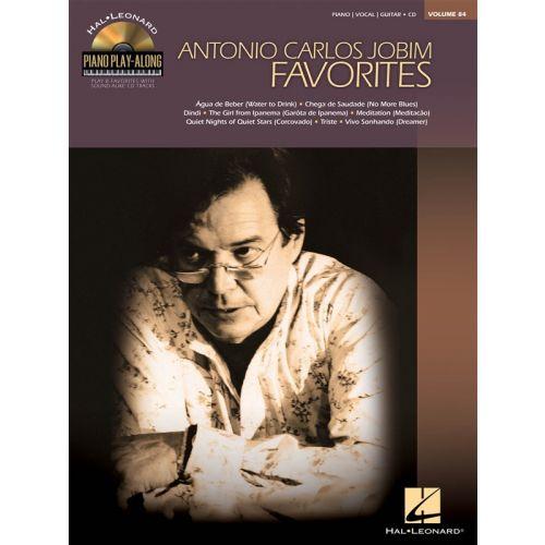 HAL LEONARD PIANO PLAY-ALONG VOLUME 84 ANTONIO CARLOS JOBIM PVG + CD - PIANO SOLO
