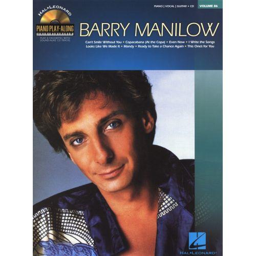 HAL LEONARD PIANO PLAY-ALONG VOLUME 86 BARRY MANILOW PIANO + CD - PIANO SOLO