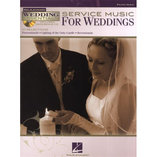 HAL LEONARD SERVICE MUSIC FOR WEDDINGS PIANO SOLO + CD - PIANO SOLO