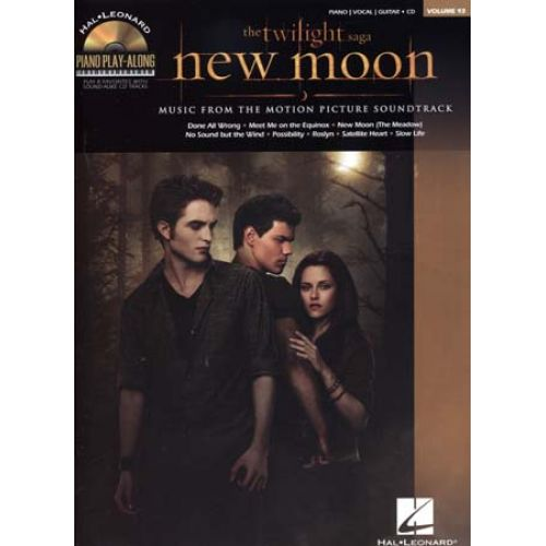 HAL LEONARD TWILIGHT NEW MOON - PIANO PLAY ALONG VOL.93 + CD - PVG