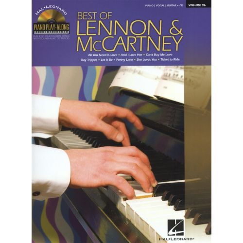 HAL LEONARD PIANO PLAY-ALONG VOLUME 96 BEST OF LENNON AND MCCARTNEY PIANO + CD - PIANO SOLO