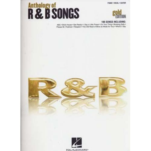 HAL LEONARD ANTHOLOGY OF R&B SONGS - GOLD EDITION - PVG