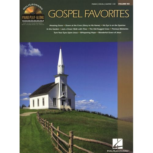 HAL LEONARD PIANO PLAY ALONG VOLUME 103 GOSPEL FAVORITES PIANO + CD - PVG