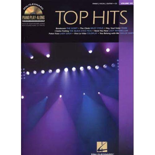 HAL LEONARD PIANO PLAY ALONG VOL.109 - TOP HITS + CD - PVG