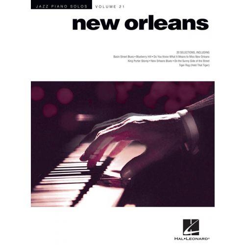 HAL LEONARD JAZZ PIANO SOLOS VOLUME 21 NEW ORLEANS JAZZ - PIANO SOLO