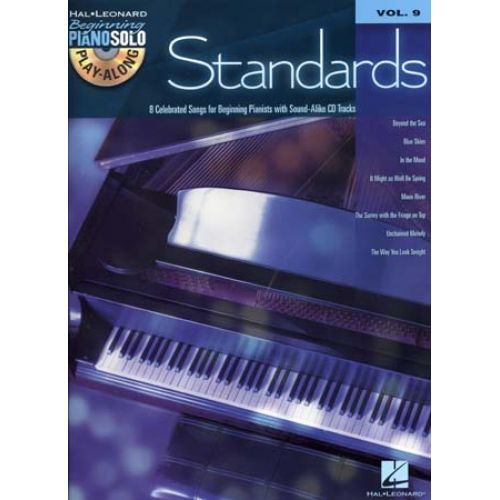 HAL LEONARD BEGINNING PIANO SOLO PLAY ALONG VOL.09 - STANDARDS + CD - PIANO