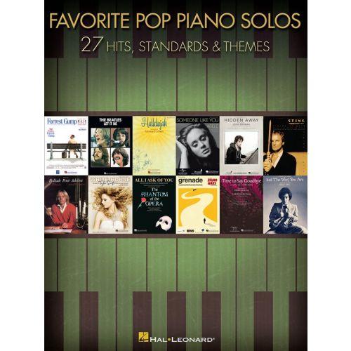 HAL LEONARD FAVORITE POP PIANO SOLOS - PIANO SOLO