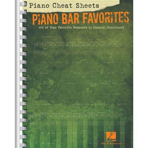 HAL LEONARD PIANO CHEAT SHEETS - PIANO BAR FAVORITES - PIANO SOLO