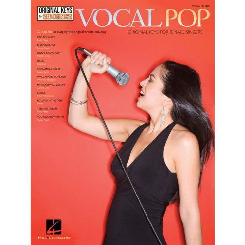 HAL LEONARD VOCAL PIANO SERIES VOCAL POP ORIGINAL KEYS FOR FEMALE SINGERS VCE