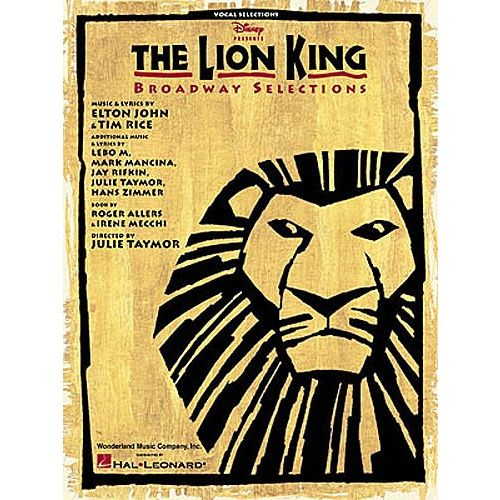 HAL LEONARD THE LION KING BROADWAY SELECTIONS - PVG