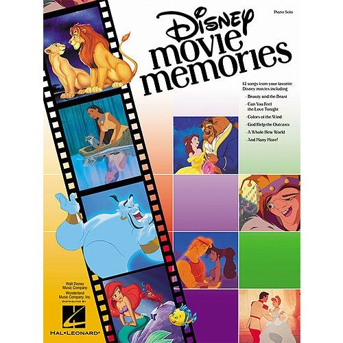 HAL LEONARD DISNEY MOVIE MEMORIES PIANO SOLO - PIANO SOLO