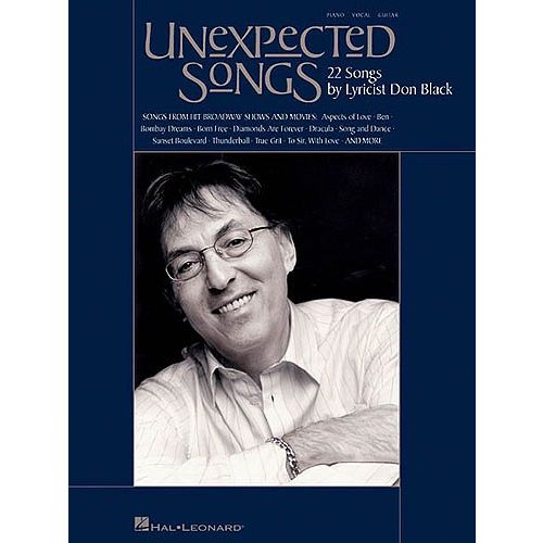 HAL LEONARD BLACK DON UNEXPECTED SONGS - PVG
