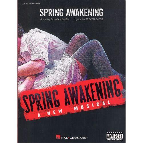 HAL LEONARD SHEIK DUNCAN - SPRING AWAKENING - A NEW MUSICAL - PVG