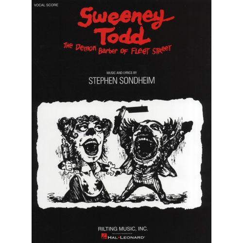 HAL LEONARD STEPHEN SONDHEIM - SWEENEY TODD - VOCAL SCORE BOOK