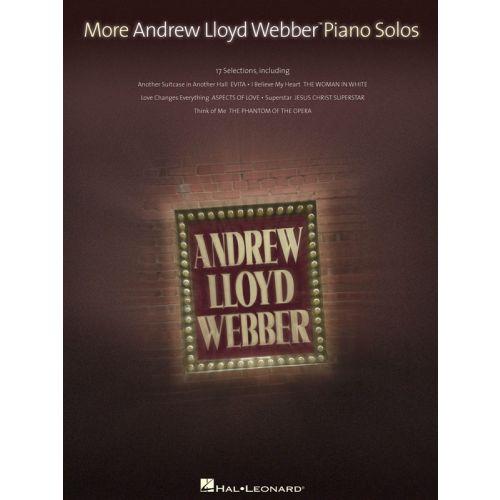 HAL LEONARD LLOYD WEBBER MORE PIANO SOLOS - PIANO SOLO