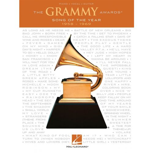 HAL LEONARD GRAMMY AWARDS SONG OF THE YEAR 1958-1969 - PVG