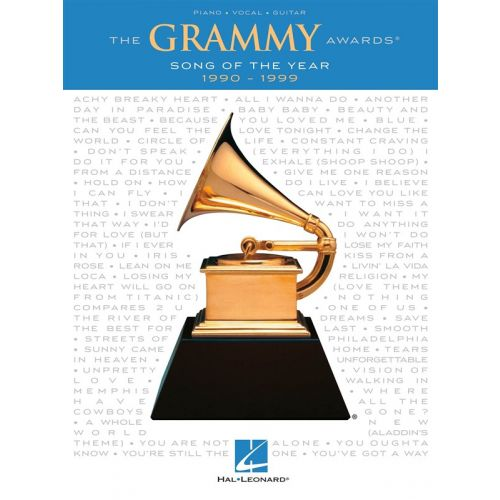 HAL LEONARD GRAMMY AWARDS SONG OF THE YEAR 1990-1999 - PVG
