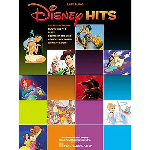 HAL LEONARD DISNEY HITS FOR EASY PIANO - PVG