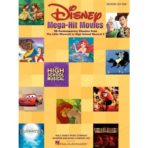 HAL LEONARD DISNEY MEGA HIT MOVIES - FOR EASY PIANO 2ND EDITION - PIANO SOLO