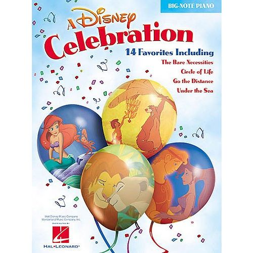 HAL LEONARD A DISNEY CELEBRATION - PIANO SOLO AND GUITAR