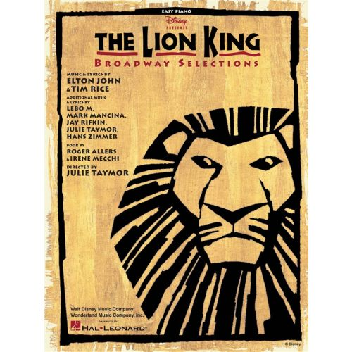 HAL LEONARD THE LION KING - BROADWAY SELECTIONS - PIANO SOLO