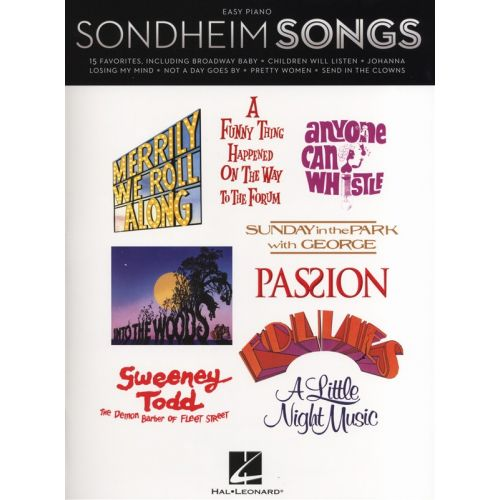 HAL LEONARD SONDHEIM STEPHEN - SONGS FOR EASY - PIANO SOLO
