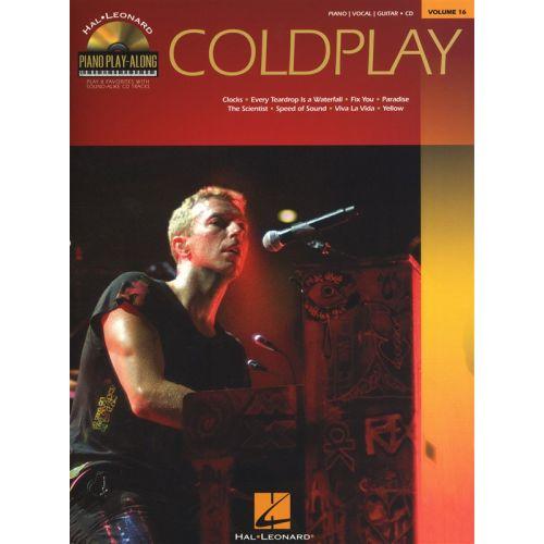HAL LEONARD PIANO PLAY ALONG VOLUME 16 COLDPLAY + CD - PVG