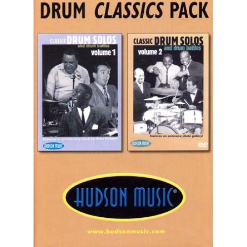 HAL LEONARD DRUM CLASSIC PACK CLASSIC DRUM SOLOS VOL.1 & 2