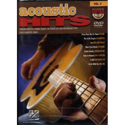 HAL LEONARD GUITAR PLAY ALONG VOL.3 - ACOUSTIC HITS